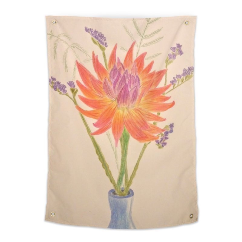 Flowers Home Tapestry by Whimsical Wildlife Wares