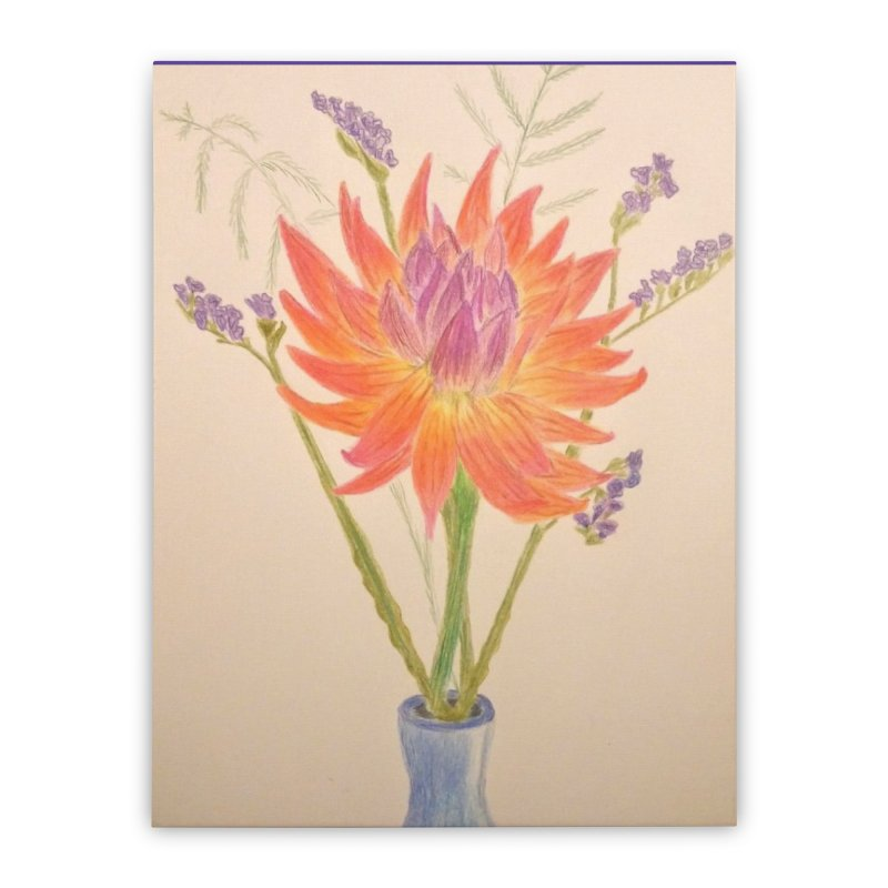 Flowers Home Stretched Canvas by Whimsical Wildlife Wares