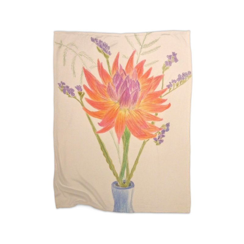 Flowers Home Blanket by Whimsical Wildlife Wares