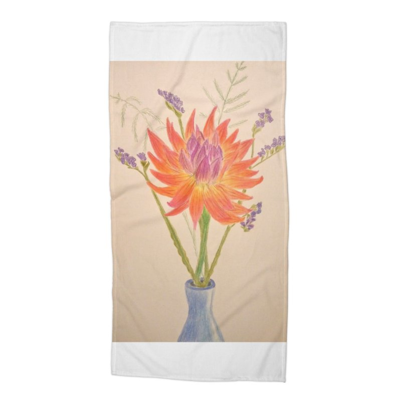 Flowers Accessories Beach Towel by Whimsical Wildlife Wares