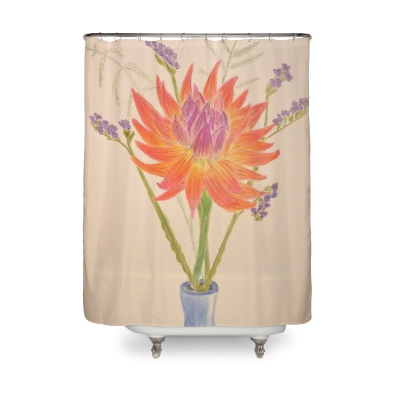 Flowers Home Shower Curtain by Whimsical Wildlife Wares