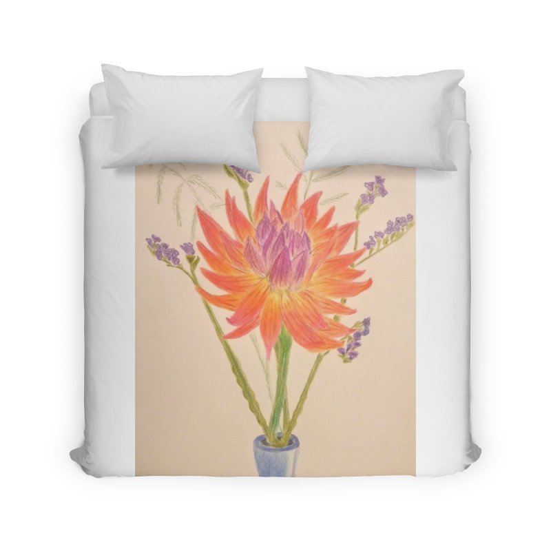 Flowers Home Duvet by Whimsical Wildlife Wares