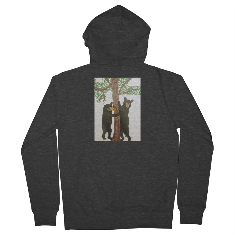 Black Bears Men's Zip-Up Hoody by Whimsical Wildlife Wares