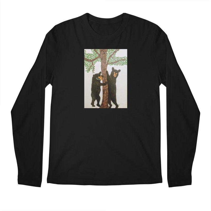 Black Bears Men's Longsleeve T-Shirt by Whimsical Wildlife Wares