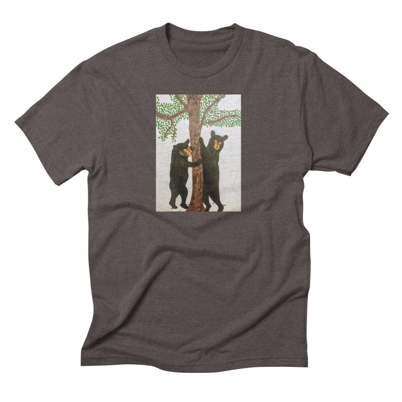 Black Bears Men's Triblend T-shirt by Whimsical Wildlife Wares