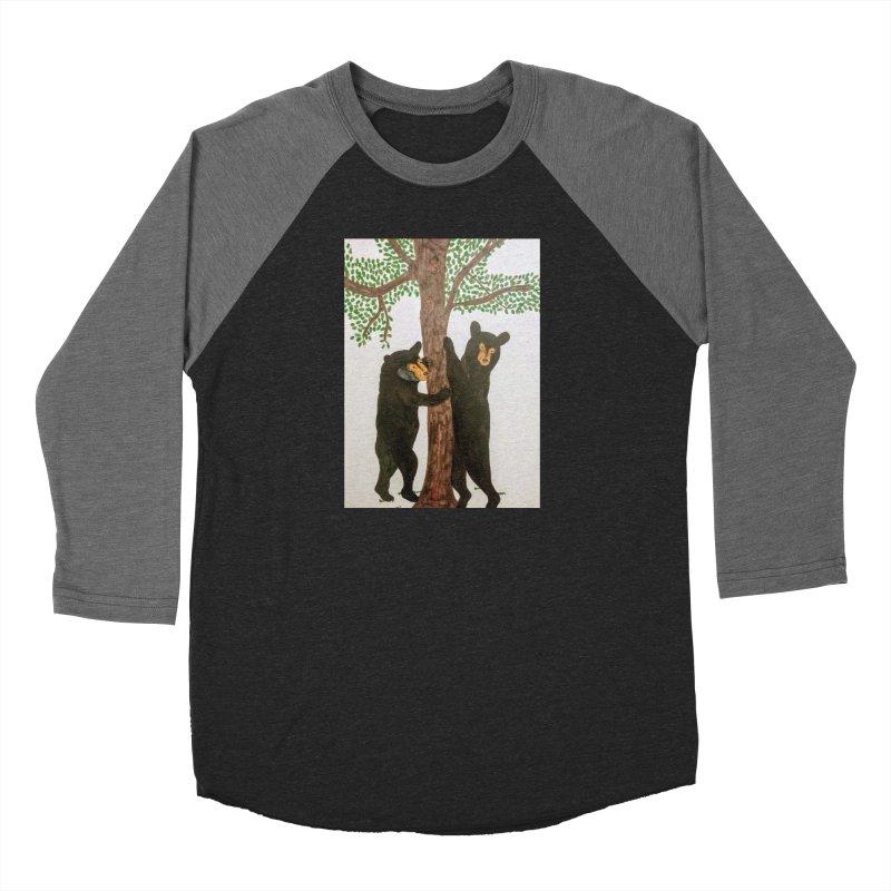 Black Bears Women's Baseball Triblend T-Shirt by Whimsical Wildlife Wares