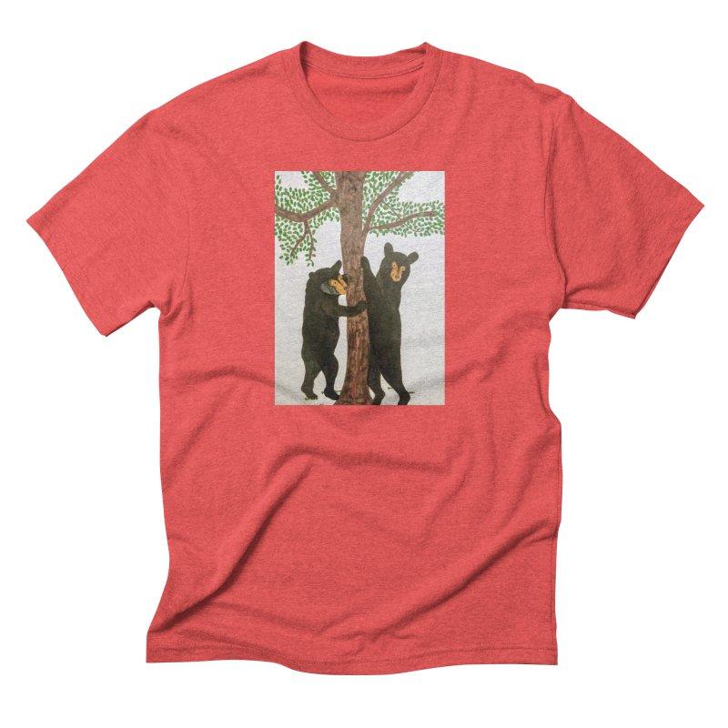 Black Bears Men's Triblend T-shirt by Whimsical Wildlife Wares