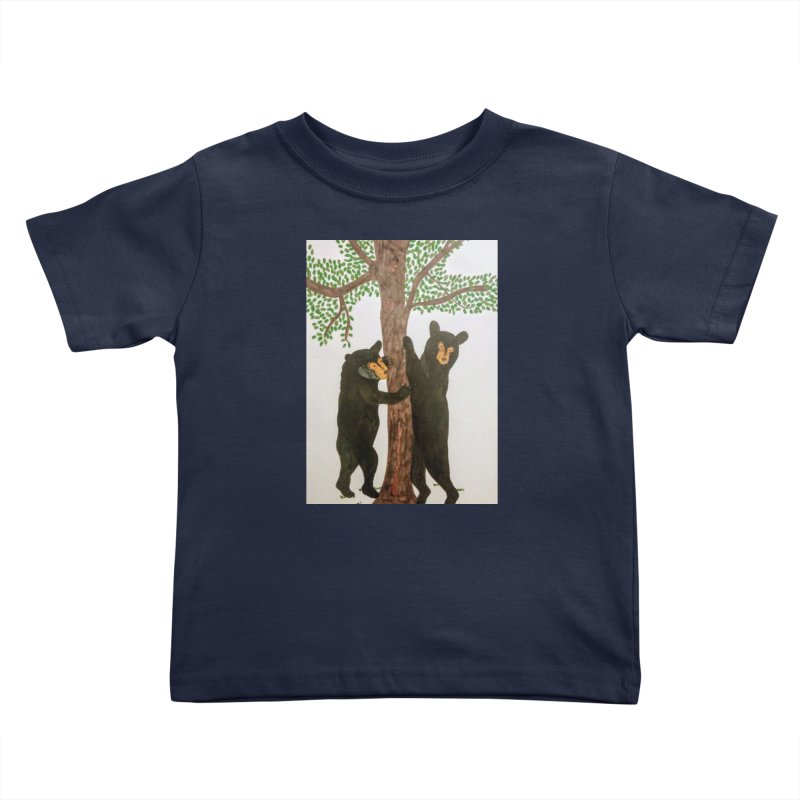 Black Bears Kids Toddler T-Shirt by Whimsical Wildlife Wares