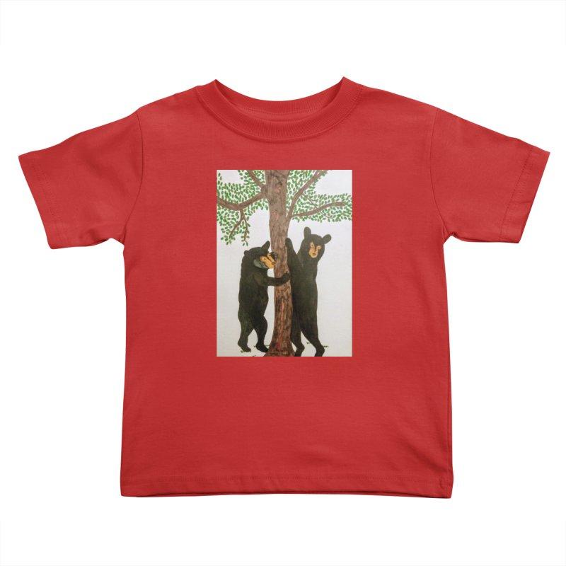 Black Bears Kids Toddler T-Shirt by Whimsical Wildlife Wares