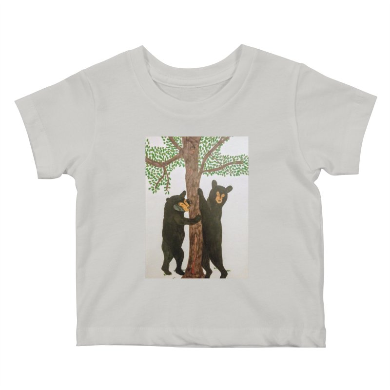 Black Bears Kids Baby T-Shirt by Whimsical Wildlife Wares