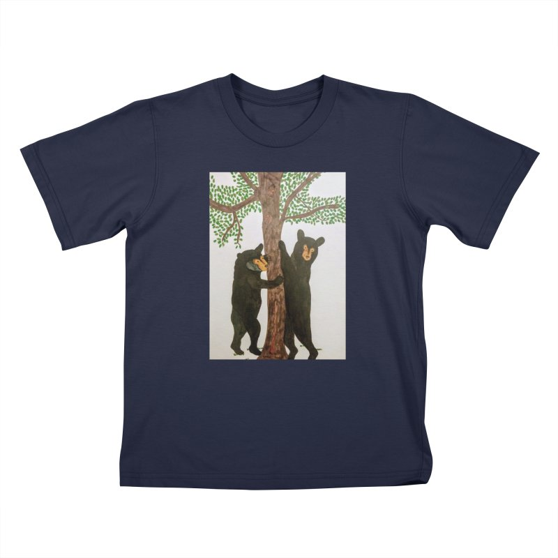 Black Bears Kids T-shirt by Whimsical Wildlife Wares