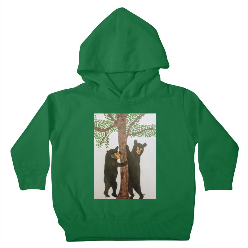 Black Bears Kids Toddler Pullover Hoody by Whimsical Wildlife Wares