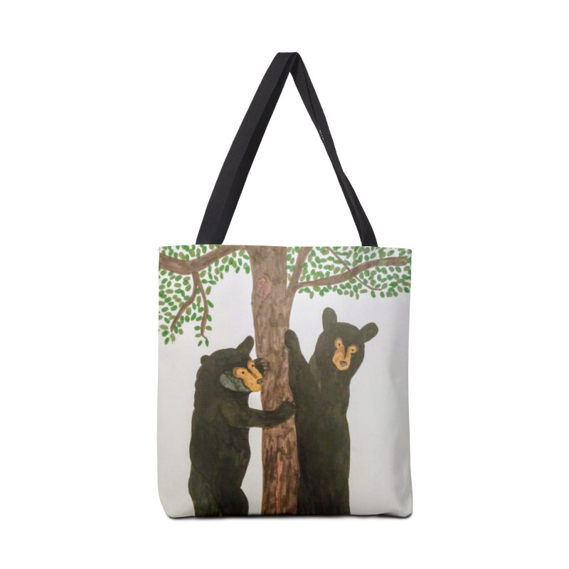 Black Bears Accessories Bag by Whimsical Wildlife Wares