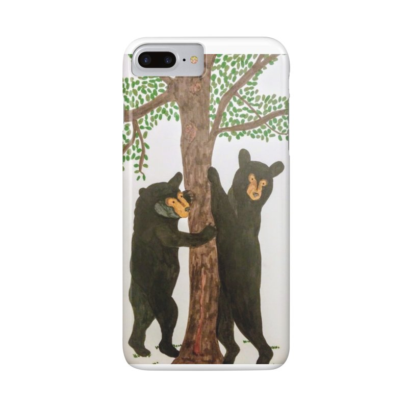 Black Bears Accessories Phone Case by Whimsical Wildlife Wares