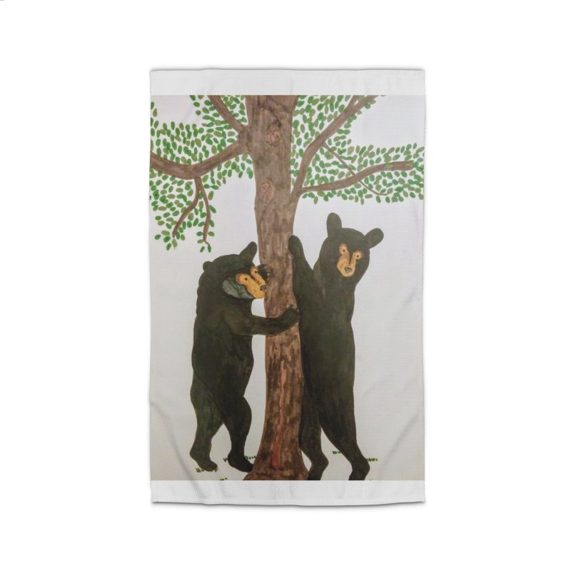 Black Bears Home Rug by Whimsical Wildlife Wares