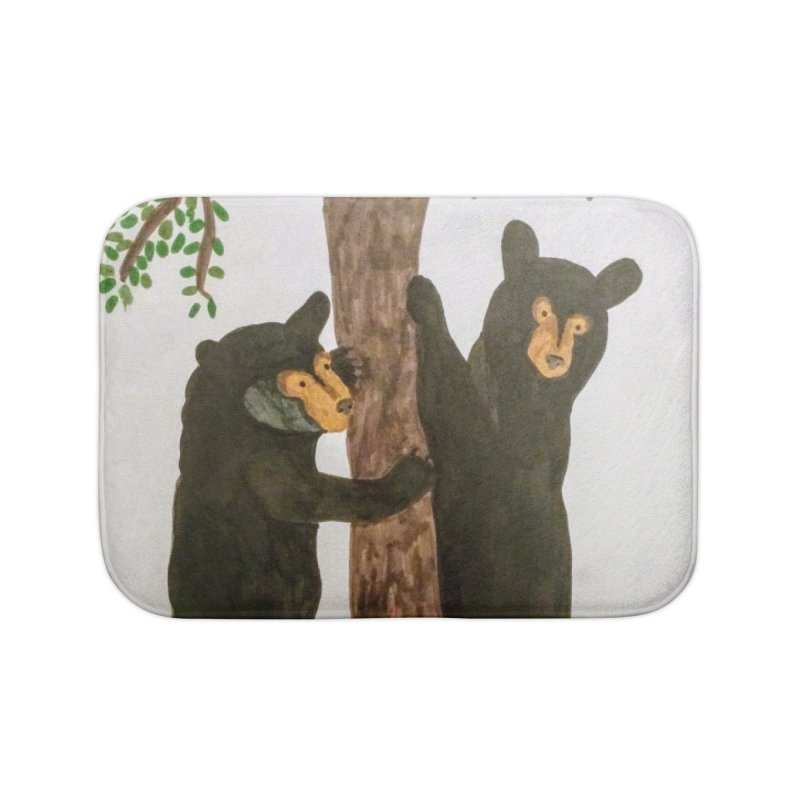 Black Bears Home Bath Mat by Whimsical Wildlife Wares