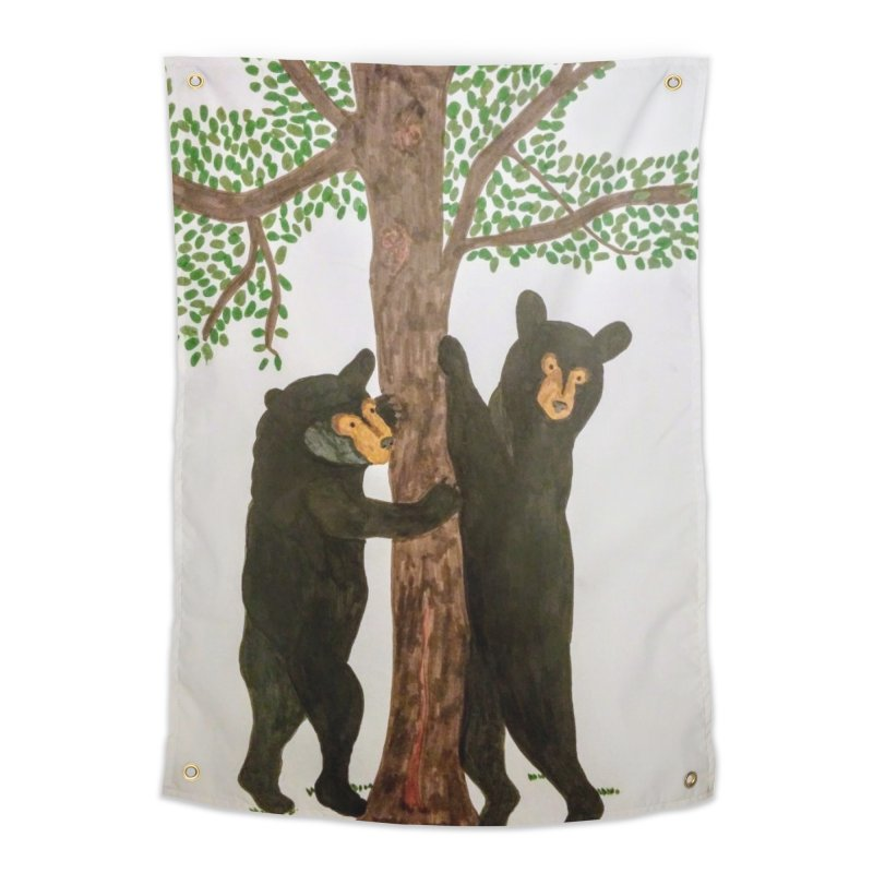 Black Bears Home Tapestry by Whimsical Wildlife Wares