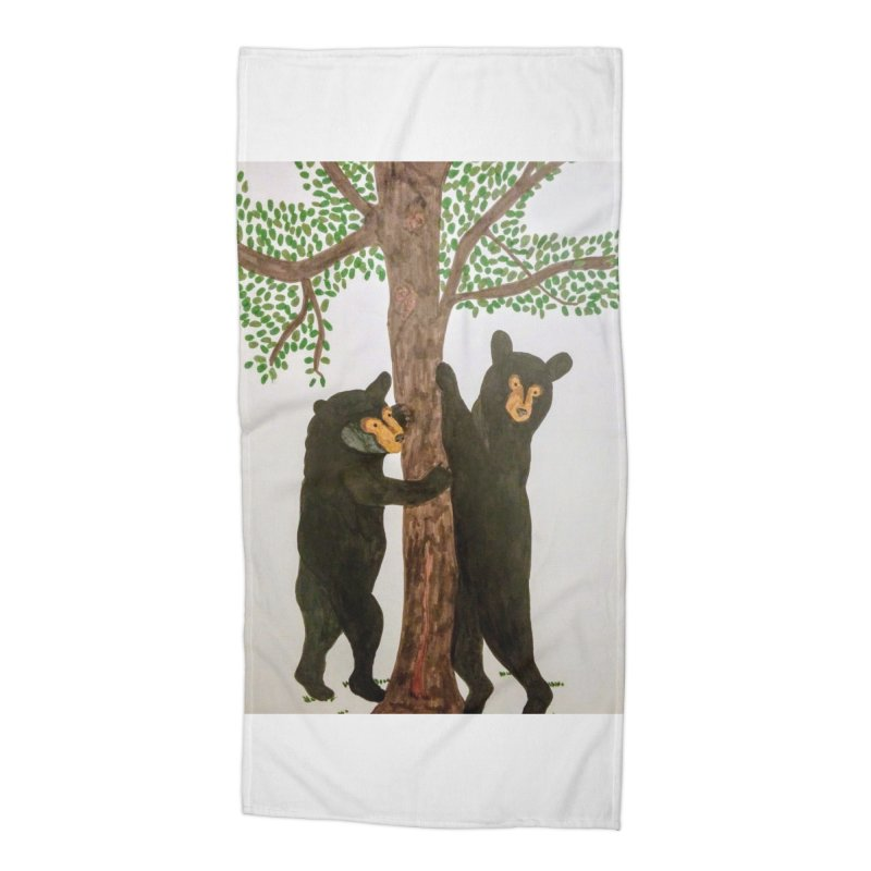 Black Bears Accessories Beach Towel by Whimsical Wildlife Wares