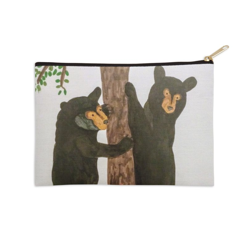 Black Bears Accessories Zip Pouch by Whimsical Wildlife Wares