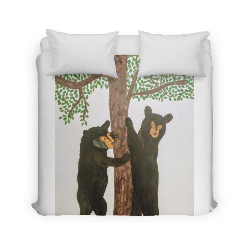 Black Bears Home Duvet by Whimsical Wildlife Wares