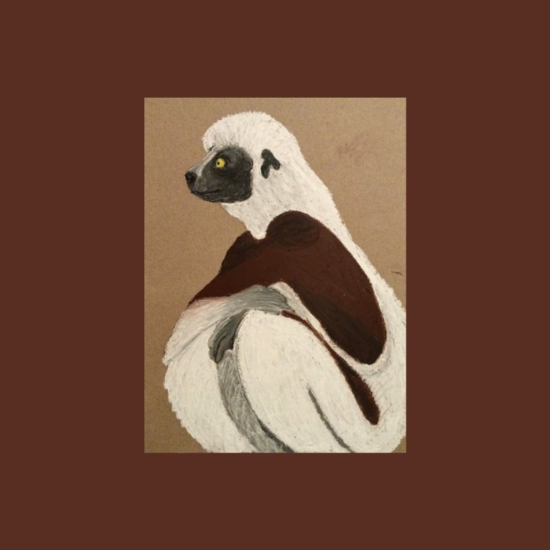 Pensive Sifaka by Whimsical Wildlife Wares