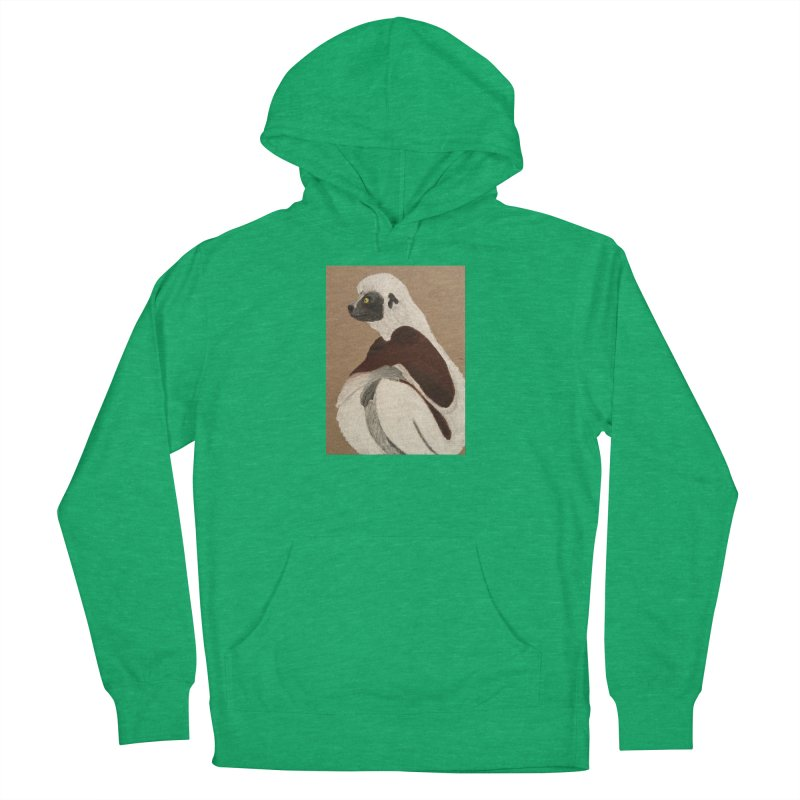Pensive Sifaka Women's Pullover Hoody by Whimsical Wildlife Wares