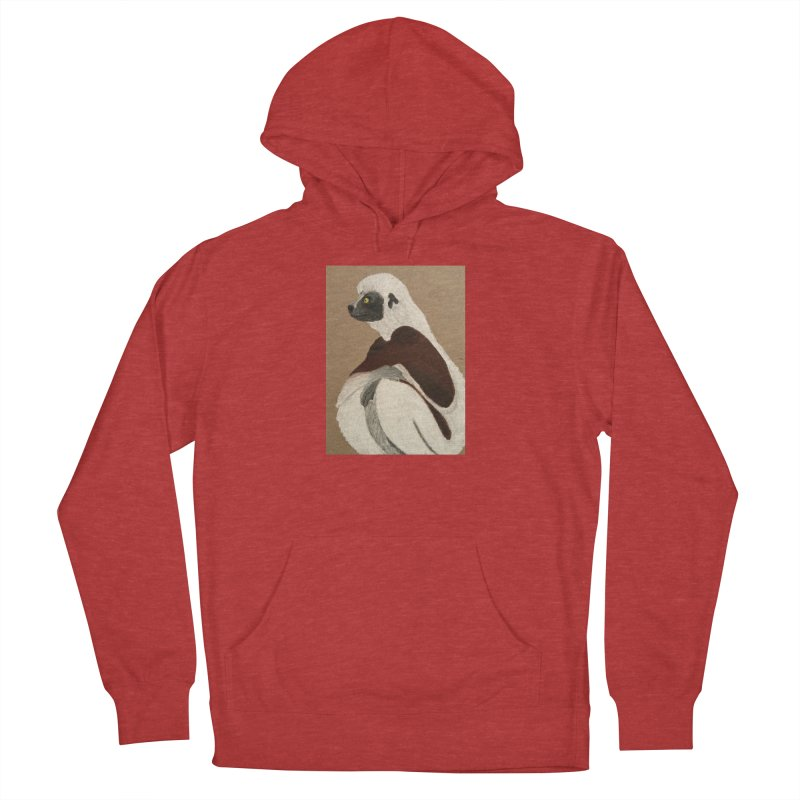 Pensive Sifaka Men's Pullover Hoody by Whimsical Wildlife Wares