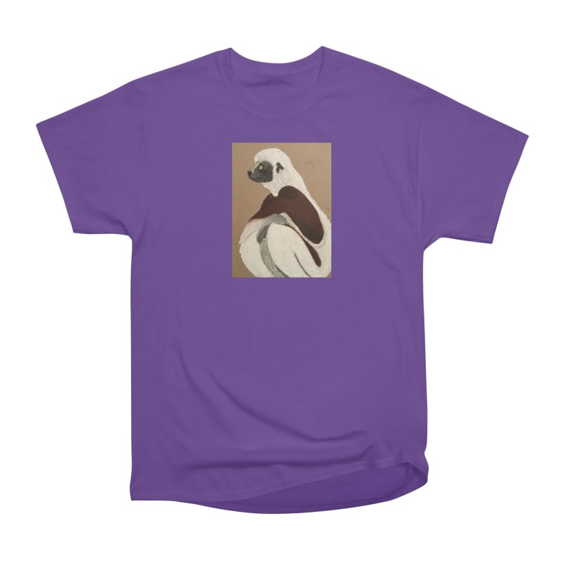 Pensive Sifaka Women's Classic Unisex T-Shirt by Whimsical Wildlife Wares