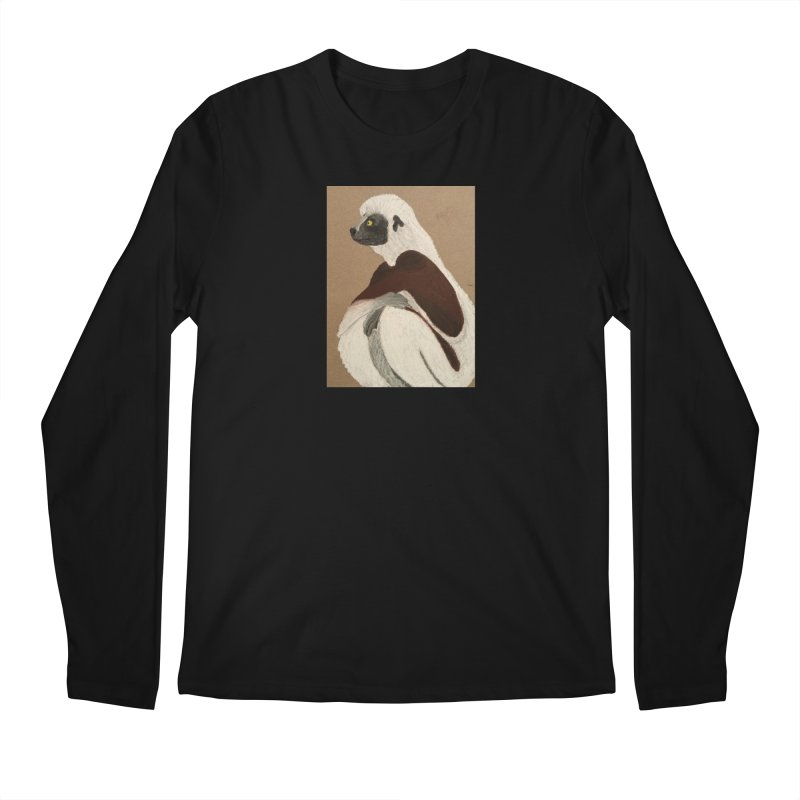 Pensive Sifaka Men's Longsleeve T-Shirt by Whimsical Wildlife Wares