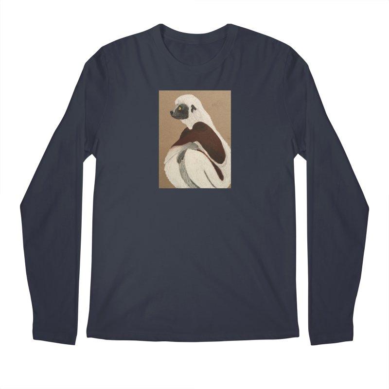 Pensive Sifaka Men's Longsleeve T-Shirt by Whimsical Wildlife Wares