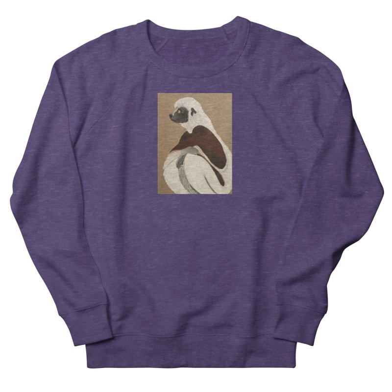 Pensive Sifaka Women's Sweatshirt by Whimsical Wildlife Wares