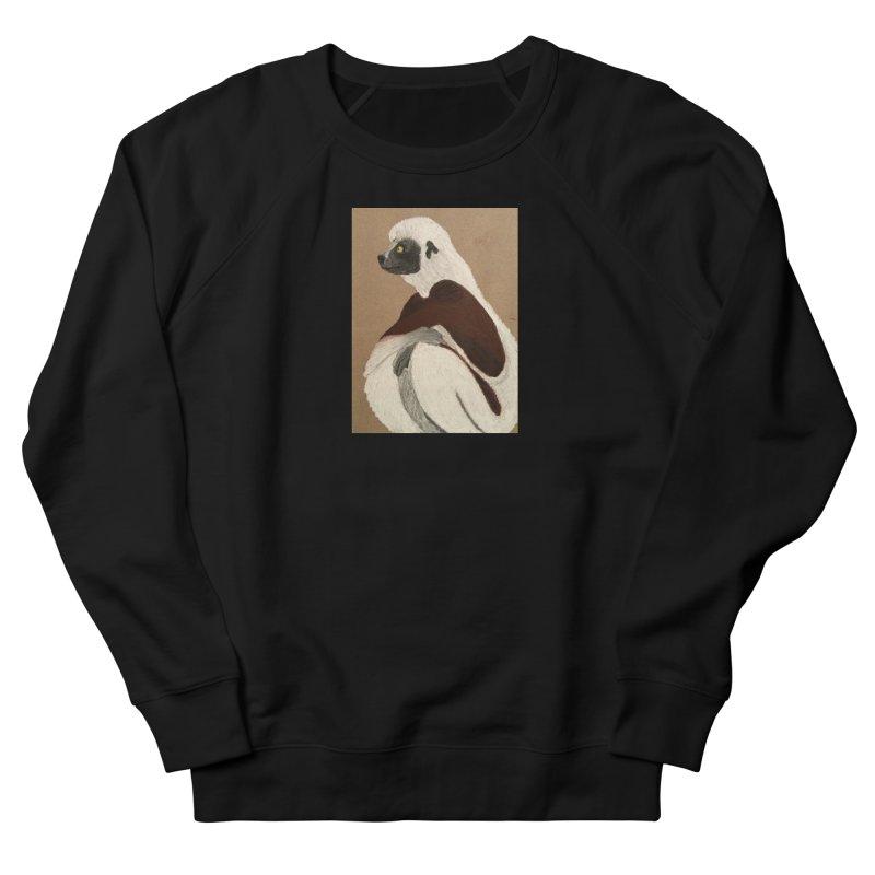 Pensive Sifaka Women's Sweatshirt by Whimsical Wildlife Wares