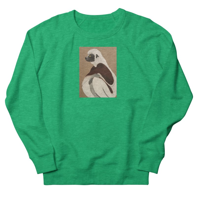 Pensive Sifaka Men's Sweatshirt by Whimsical Wildlife Wares