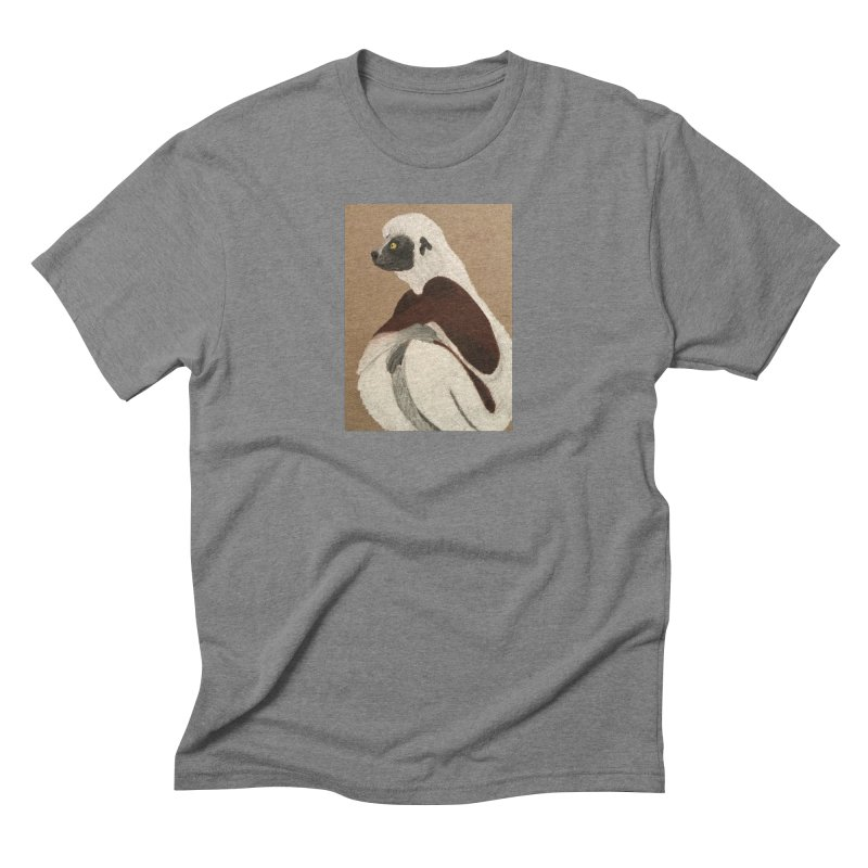 Pensive Sifaka Men's Triblend T-shirt by Whimsical Wildlife Wares