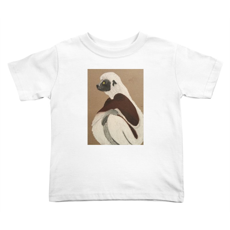 Pensive Sifaka Kids Toddler T-Shirt by Whimsical Wildlife Wares