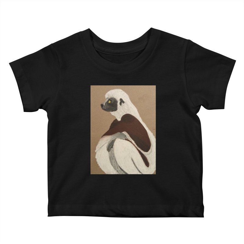 Pensive Sifaka Kids Baby T-Shirt by Whimsical Wildlife Wares
