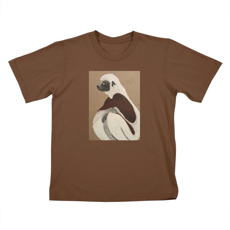 Pensive Sifaka Kids T-Shirt by Whimsical Wildlife Wares