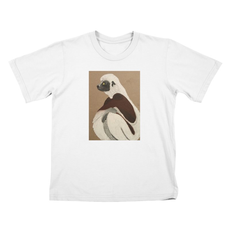 Pensive Sifaka Kids T-shirt by Whimsical Wildlife Wares