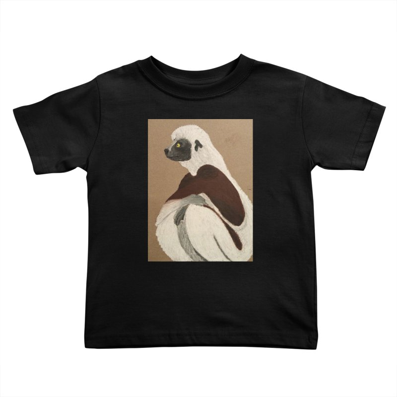Pensive Sifaka Kids Toddler T-Shirt by Whimsical Wildlife Wares