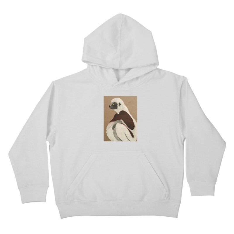 Pensive Sifaka Kids Pullover Hoody by Whimsical Wildlife Wares