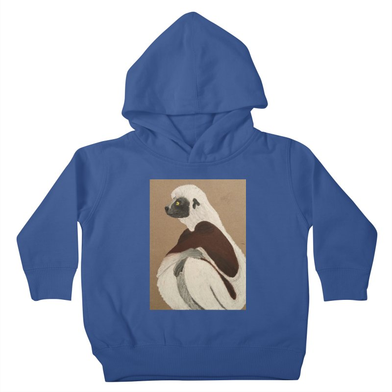 Pensive Sifaka Kids Toddler Pullover Hoody by Whimsical Wildlife Wares