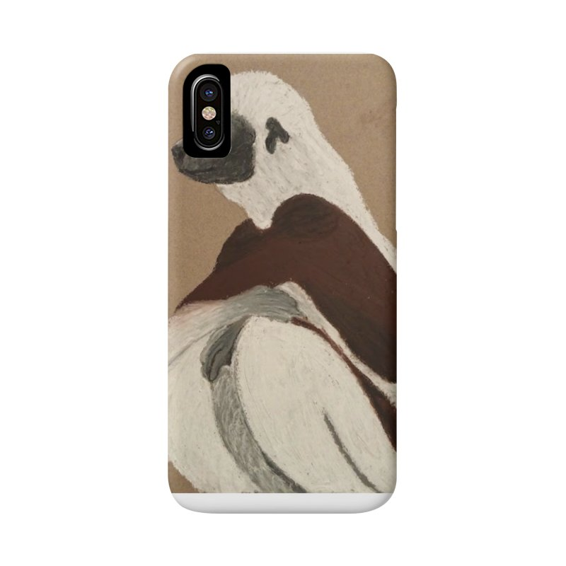 Pensive Sifaka Accessories Phone Case by Whimsical Wildlife Wares
