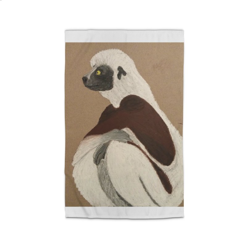 Pensive Sifaka Home Rug by Whimsical Wildlife Wares