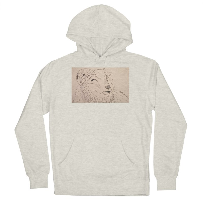 Ram Women's Pullover Hoody by Whimsical Wildlife Wares