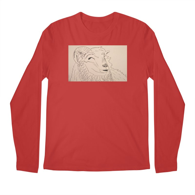Ram Men's Longsleeve T-Shirt by Whimsical Wildlife Wares