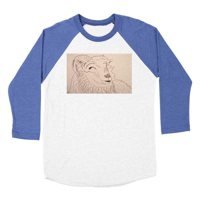 Ram Women's Baseball Triblend T-Shirt by Whimsical Wildlife Wares