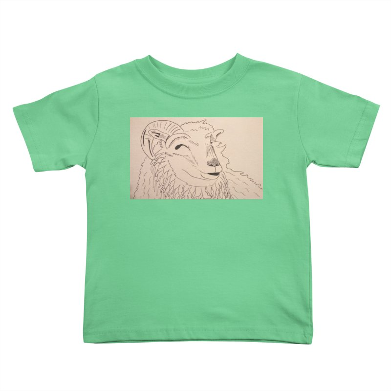 Ram Kids Toddler T-Shirt by Whimsical Wildlife Wares