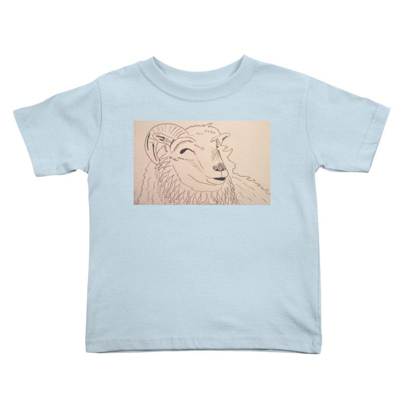 Ram Kids Toddler T-Shirt by Whimsical Wildlife Wares