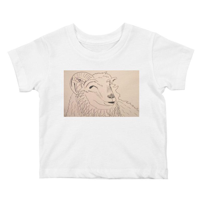 Ram Kids Baby T-Shirt by Whimsical Wildlife Wares