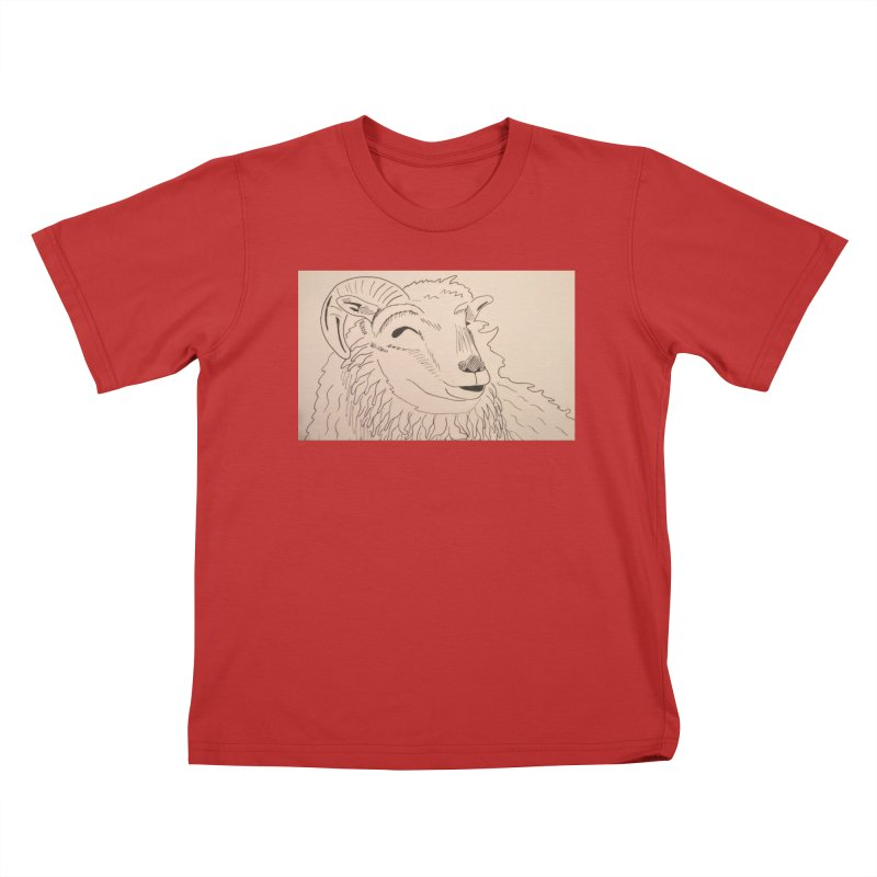 Ram Kids T-shirt by Whimsical Wildlife Wares